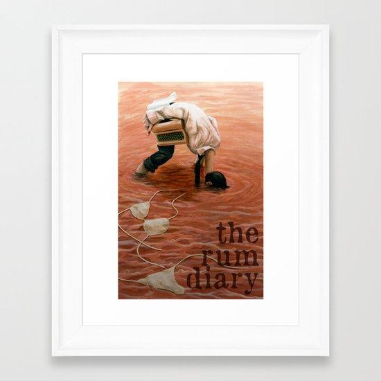 The Rum Diary Framed Art Print