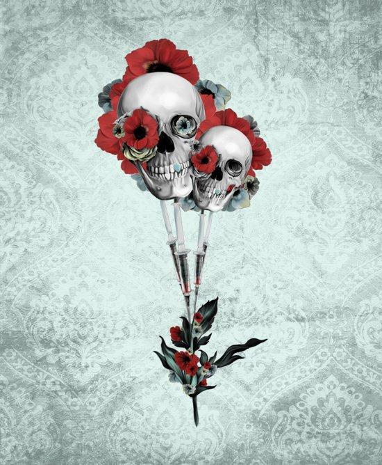Evolution of poppies.  Art Print