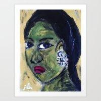 GAUGUIN GIRL2 Art Print