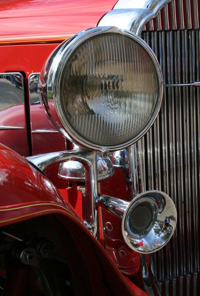 Antique Automobile Headlamps : Vintage car headlight horn art print by andrea jean