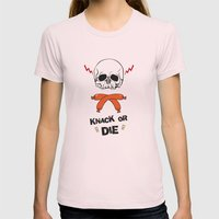 Knack Or Die Womens Fitted Tee Light Pink SMALL