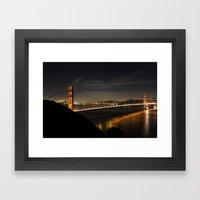 Golden Gate Bridge @ Night Framed Art Print