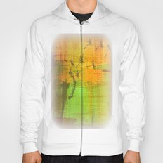 Untitled Digital Abstract - Green and Yellow Hoody