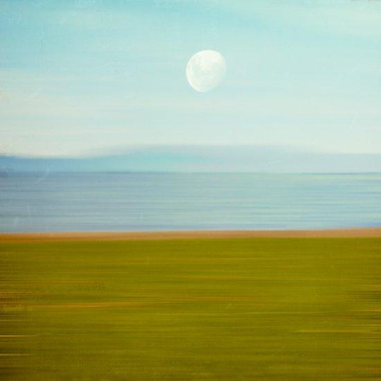 Moon on Beach Art Print