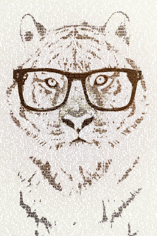 The Hipster Tiger Art Print
