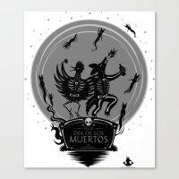 Dia De Los Muertos Roadr… Canvas Print