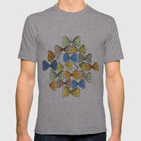 More Bows & Butterflies Mens Fitted Tee Athletic Grey SMALL