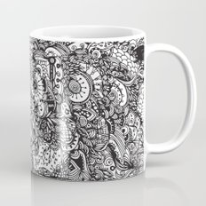 Detailed rectangle, black and white  Mug