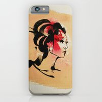 iPhone & iPod Case featuring Spring Geisha by Mishfit