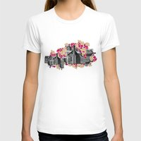 FILLED WITH CITY II Womens Fitted Tee White SMALL