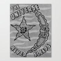Sleepy Universe Canvas Print