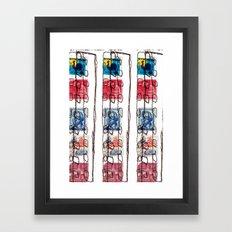 Stitched Buildings Framed Art Print