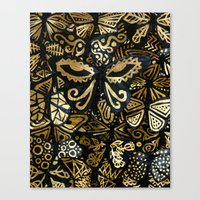 Swarm Of The Butterflies Canvas Print