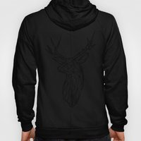 Black Line Faceted Stag … Hoody