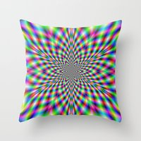 Neon Psychedelic Throw Pillow