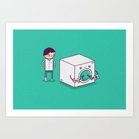 Secret Habit Art Print