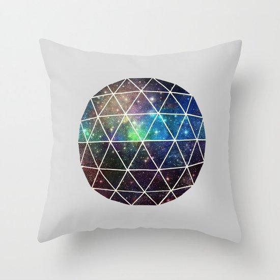 Space Geodesic Throw Pillow