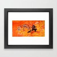 Roaring Tiger Broadsword Framed Art Print