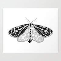 Virgin Tiger Moth Art Print