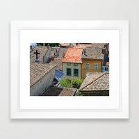the houses in Crest Framed Art Print