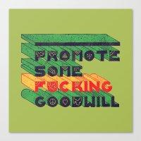 Goodwill Canvas Print