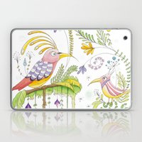 garden and birds Laptop & iPad Skin