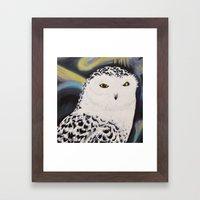 Snowy Owl Portrait Framed Art Print