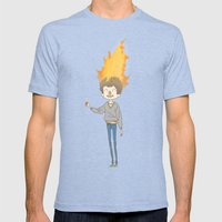 burn Mens Fitted Tee Tri-Blue SMALL