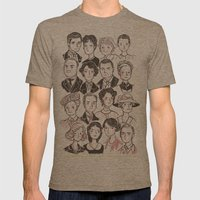 Downton Abbey Mens Fitted Tee Tri-Coffee SMALL