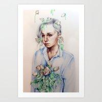 In Gloom/In Bloom Art Print