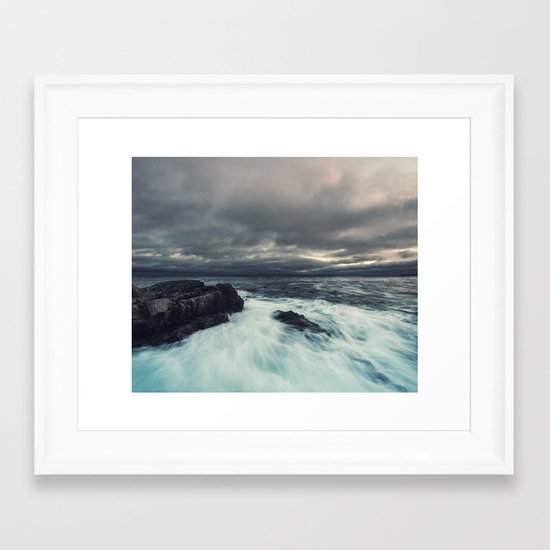 Washed Point Framed Art Print