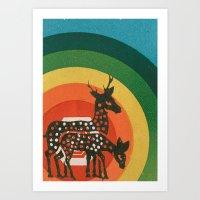 Deer Medicine Art Print