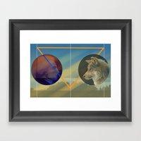 Man To Wolf Framed Art Print