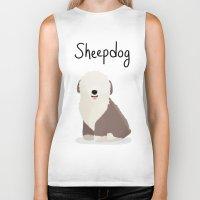 Sheepdog - Cute Dog Seri… Biker Tank