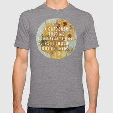 Hunting for Sunflowers Mens Fitted Tee Tri-Grey SMALL