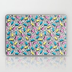 Poppin - memphis throwback retro 1980s 80s style classic trendy hipster pattern bright neon dorm  Laptop & iPad Skin