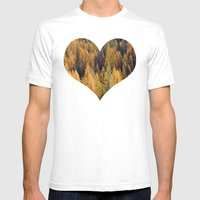 Autumn Tamarack Pine Tre… Mens Fitted Tee White SMALL