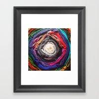 Scarf Rainbow Framed Art Print
