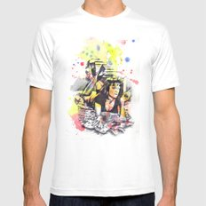 Uma Thurman From Pulp Fiction Mens Fitted Tee SMALL White