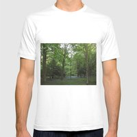 Bluebell Wood Mens Fitted Tee White SMALL