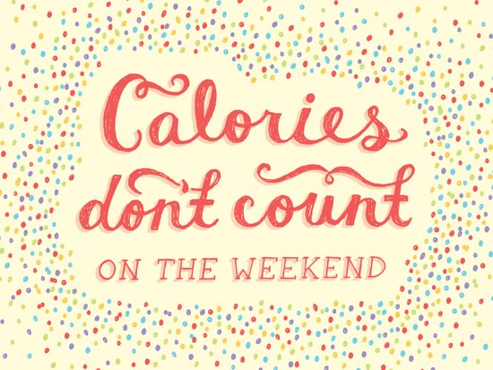 Calories Don't Count Art Print