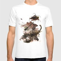 InkyBugs II Mens Fitted Tee White SMALL