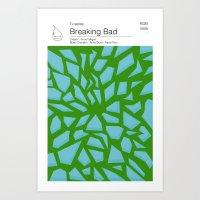 Breaking Bad TV books Art Print