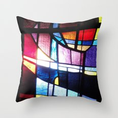 Stained Beauty Throw Pillow