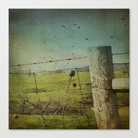 Wild West Fence  Canvas Print