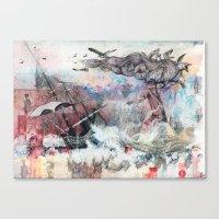 Graceful Attempt Canvas Print