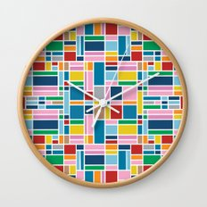 Stained Glass W Wall Clock