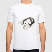 Snow White Mens Fitted Tee Ash Grey SMALL
