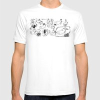 Doobles Mens Fitted Tee White SMALL