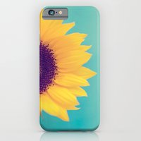 iPhone Cases featuring Sunflower by Debbie Wibowo